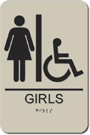 school bathrooms signs. School Bathroom ADA Signs Bathrooms R