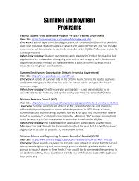 summer employment programs university of toronto mississauga