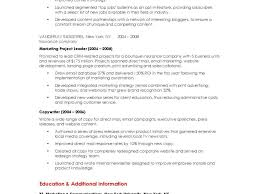 Marketing Resume Cover Letter Template Consultant Assistant Director