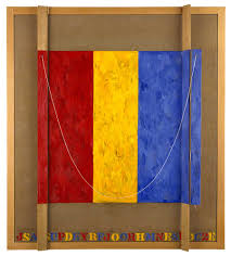 jasper johns study for merce 2002 encaustic on canvas and wood with collage
