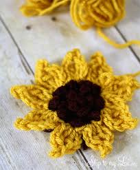 Crochet Sunflower Pattern Awesome Crochet Sunflower Pattern