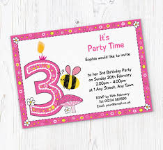 Party Invites Online Bumble Bee 3rd Birthday Invitations