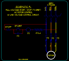 3 wire schematic basic start stop ac motor control schematics ecn electrical forums schematic 1 full voltage start stop 3 wire
