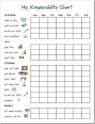 Responsibility Chart Chore Chart Recompensas Para Niños