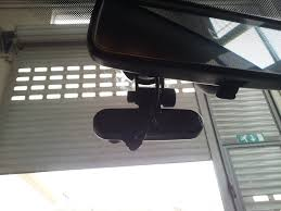 dash cam v multi adaptor hidden install driver storage cable fed into head lining at top of windscreen only visible wire