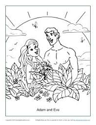 Small Picture Adam and Eve Disobeyed God Coloring Page Adam and Eve Bible