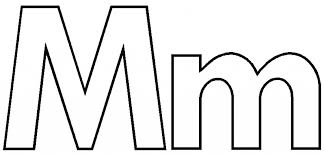 Small Picture M Coloring Page Letter M Coloring Pages To Download And Print For