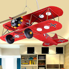 Airplane Pendant Light Children S Luminarias Iron Airplane Room Led Pendant Lights