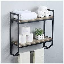 bathroom shelves wall mounted rustic