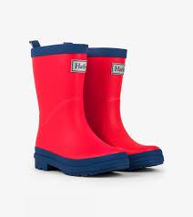 Red Navy Matte Rain Boots