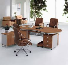 modern storage office executive desk in natural wood with drawer file cabinet
