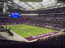 U S Bank Stadium Section 101 Row 42 Seat 17 Minnesota