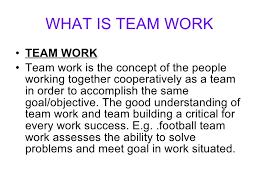 Teamwork Presentations Team Work Presentationn Slide