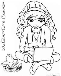 Small Picture lego friends reading book Coloring pages Printable