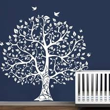 get quotations tree wall decal with birds vinyl natural theme wall art sticker baby nursery decal wall decor on vinyl wall art tree decals with cheap vinyl wall tree decal find vinyl wall tree decal deals on