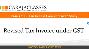 Revised Tax Invoice Under Gst - Youtube