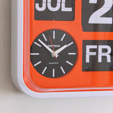 ech wall flip clock m orange