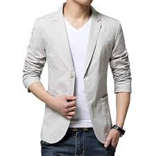 KIMILILY <b>Sports</b> Jacket for <b>Men Cotton</b> Blazer Jackets Two Button ...