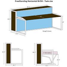 twin murphy bed desk. Freestanding Horizontal B Esk Twin Size Specs Murphy Bed Desk N
