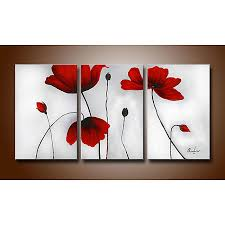 flowers hand painted oil on canvas art set hd0029