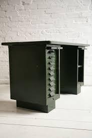 vintage green metal desk