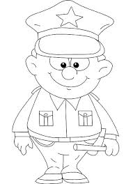 Police Uniform Coloring Pages At Getdrawingscom Free For Personal