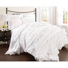 Lush Decor Belle 4 Piece Comforter Set Amazon Lush Decor Belle 60 Piece Comforter Set King White 2