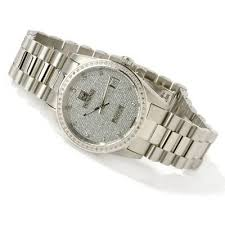 fs croton men s diamond pave watch doc note the one i am selling is gold plated gold dial and hands