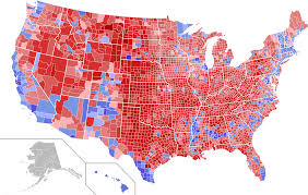 2016 Presidential Election Results Chart 2016 Us Presidential Election Map By County Vote Share