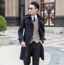 designer teenage slim y long trench coat men mens trench coat classic business outerwear belt plus size s 9xl from blueberry13 139 48 dhgate com