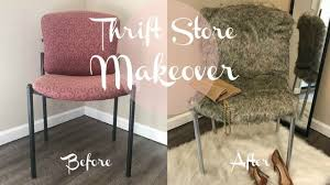 diy fur chair upcycle 1 thrift makeover