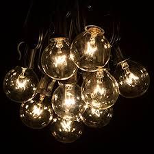 backyard string lighting. Hometown Evolution, Inc. 100 Foot G40 Globe Patio String Lights With Clear Bulbs For Backyard Lighting