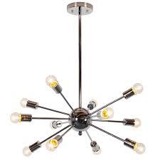 Sputnik Style Lighting Light Society Meridia Sputnik Style Chandelier Home
