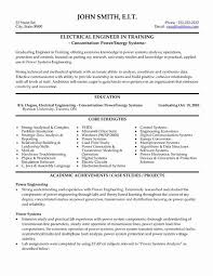 Electrical Engineer Resume Inspiration Electrical Engineer Resume Antique Best Engineering Resume Templates