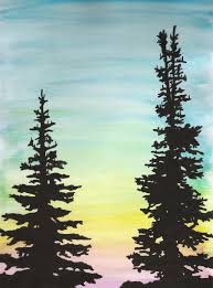 pine trees silhouette by noodooloo pine trees silhouette by noodooloo