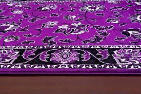 traditional fl area rug purple black white