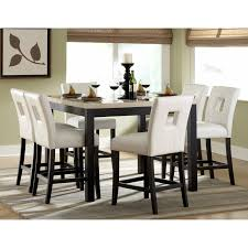 Kitchen Counter Table Design 9pc Dinette Kitchen Counter Height Table With 8 Chairs In Espresso