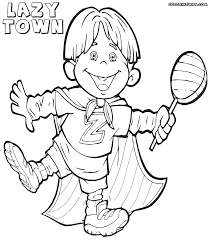 Lazy Town Colouring Pages To Print L Duilawyerlosangeles
