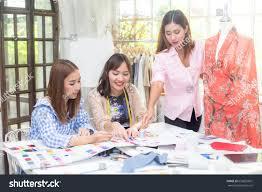 Fashion Designer Part Time Job Young Team Asian Designer Woman Warking Stock Photo Edit