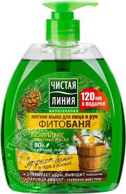 Купить <b>Мыло жидкое Чистая Линия</b> Фитобаня для лица и рук ...