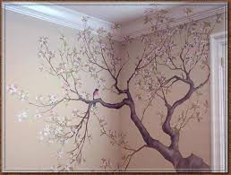 tree wraps around the wall and onto the ceiling!