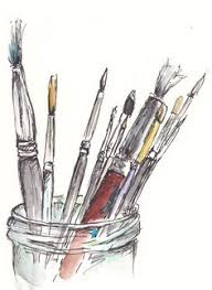 paint brushes drawing. catherine carey\u0027s   painting - all medias pinterest watercolor, journaling and sketchbooks paint brushes drawing s