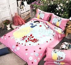 snow white bedding new snow white pink girls purple blue bedding sets fair lady comforter cartoon snow white bedding