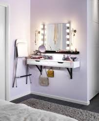 vanity table for small space. carve out a little space just for pampering. mount the vanity table small x