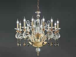 gold leaf chandelier with crystals chic by vintage gold leaf chandelier