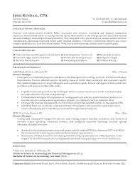 Resume Finance Manager Unitus Info