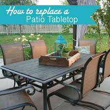 makeover an outdoor table and refresh chairs glass replacement patio table