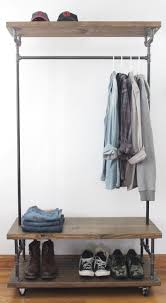 Rolling Coat Rack With Shelf Wardrobe Racks Amusing Rolling Closet Rack Rollingclosetrack 47