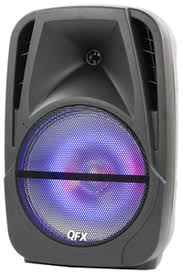 Qfx Portable Bluetooth Speaker With Microphone And Disco Light Qfx 15 Inch Rgb Disco Light Bluetooth Portable Speaker Pbx Bf150