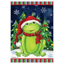 christmas garden flags. Christmas Garden Flag - Frog Flags D